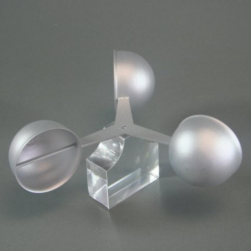 Laser cutting aluminium anemometer