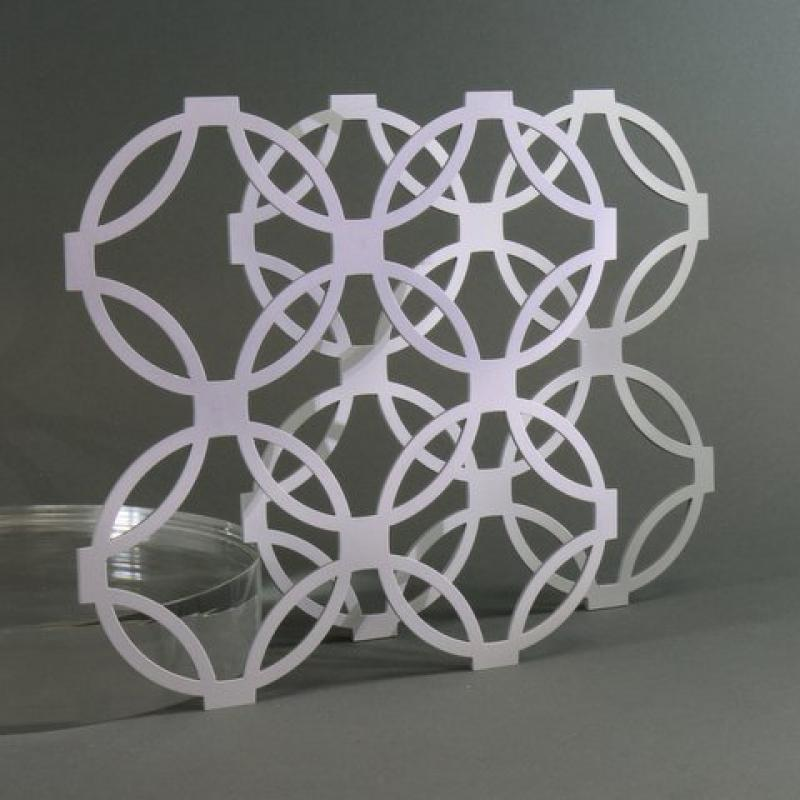 Laser cutting aluminium ornaments