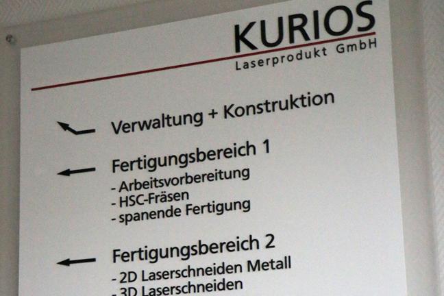 Fertigungsbereiche von KURIOS