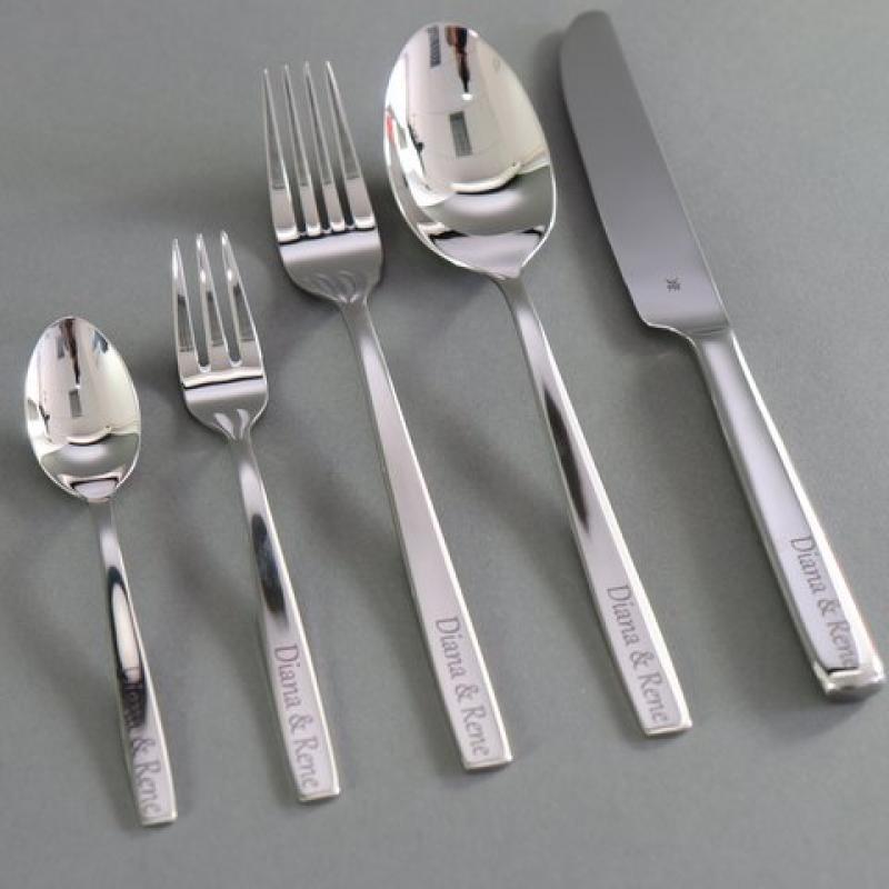 Laser marking cutlery