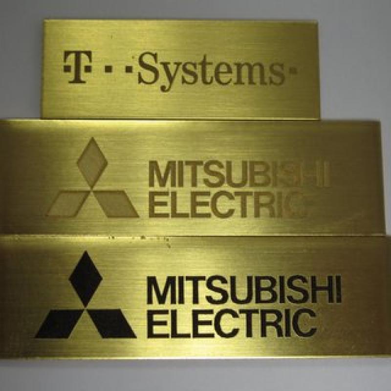 Laser marking brass plate