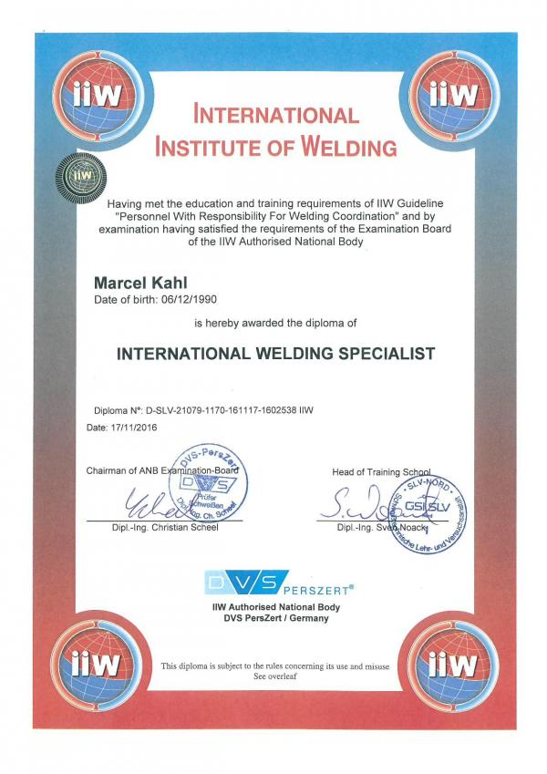 International Welding Specialist